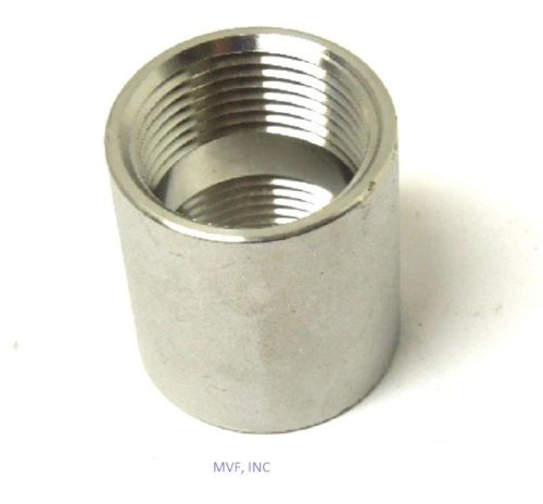 "1"" 150# Cast Threaded Coupling 304 Stainless Steel"