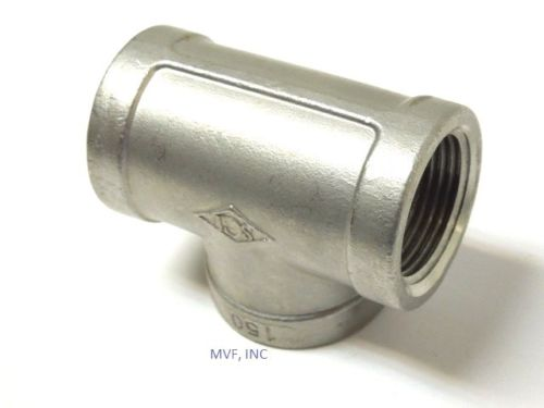"4"" 150# Cast Threaded TEE 304 Stainless Steel"