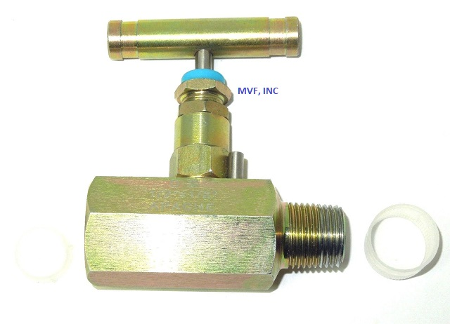 "Needle Valve 1/2"" MNPT x 1/2"" FNPT 6000 PSI Steel Body NACE T-Bar (QTY-20) OVER STOCK, Free S&H"