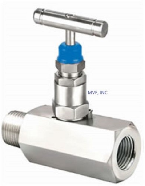 "Needle Valve 1/2"" MNPT x 1/2"" FNPT 6000 PSI Stainless Steel Body, NACE, T-Bar OVER STOCK"