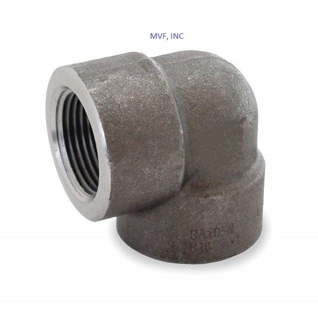 "1"" 3000 Threaded (NPT) 90° Elbow Forged Steel A105 NEW SURPLUS"
