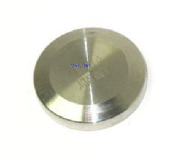 "1/2"" & 3/4"" Sanitary Solid End Cap 316 Stainless Steel Tri Clover"