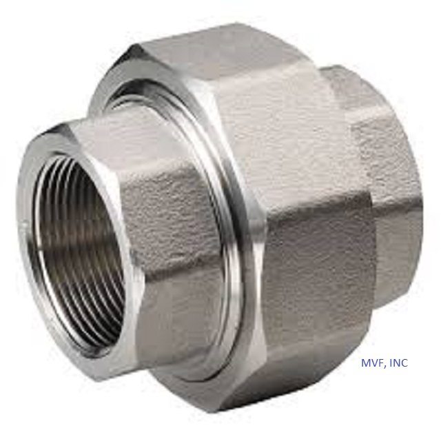 "2"" 3000# Threaded (NPT) Union Forged Steel A105 NEW SURPLUS"